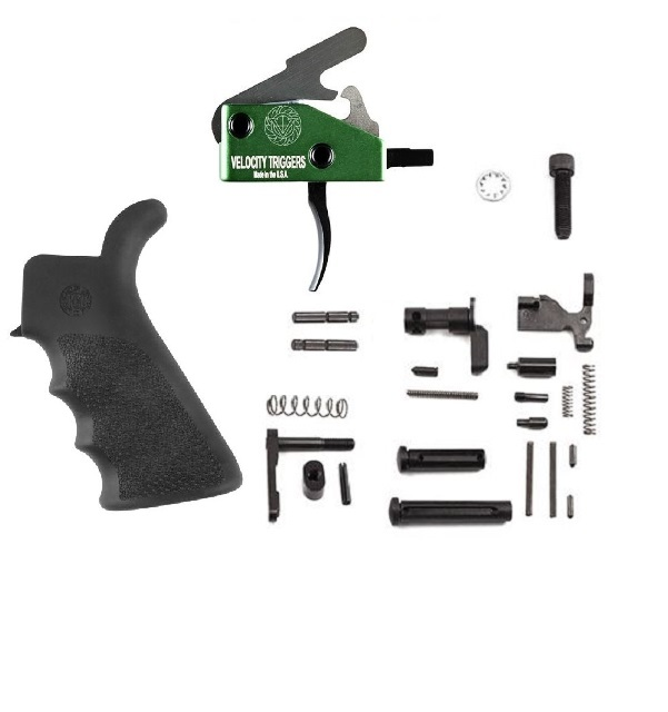 Lower Parts Kit w/ 3 lb. Velocity Trigger & Hogue Grip- .308