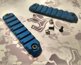 7-Slot Keymod Accessory Rails- Two Pack Blue