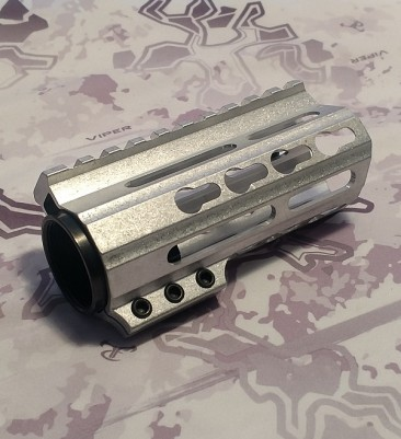"4"" Free Float Key Mod Handguard - Raw"